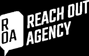 ROA Logo Wort-Bildmarke weiß